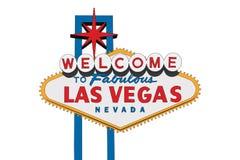 Las Vegas-Zeichen lokalisiert stockfotografie