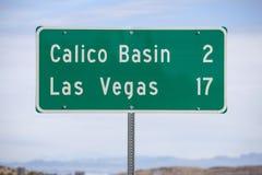 Las Vegas Zeventien Miles Highway Sign Royalty-vrije Stock Foto