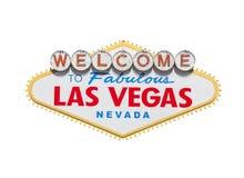 Las Vegas znak powitalny diament Odizolowywający Obraz Royalty Free