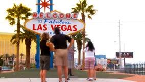 Las Vegas znak powitalny, upływ zdjęcie wideo
