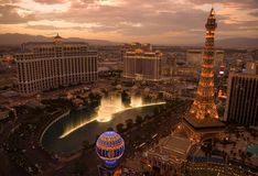 Las- VegasSkyline lizenzfreie stockfotografie