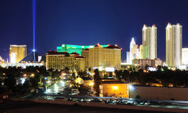 Las- VegasSkyline nachts Stockfotos