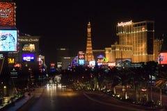 Las- Vegasstreifen nachts Lizenzfreie Stockfotografie
