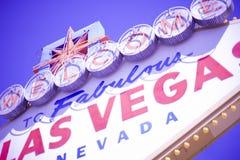 Las- Vegaswillkommen Stockfotografie