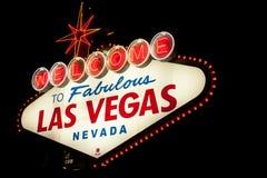 Las- Vegaswillkommenes Zeichen Stockfotografie