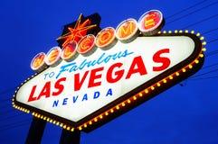 Las- Vegaswillkommenes Zeichen Lizenzfreie Stockfotos