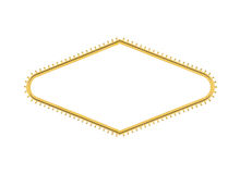 Las- Vegaswillkommenes Zeichen-Glühlampe-Diamant herausgeschnitten Lizenzfreies Stockfoto