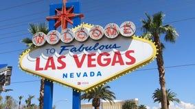 Las- Vegaszeichen stock footage