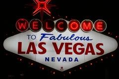 Las- Vegaszeichen Lizenzfreies Stockbild