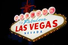 Las- Vegaszeichen Stockfoto