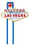 Las- Vegaszeichen getrennt auf Weiß Stockbild