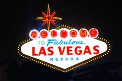 Las- Vegaszeichen-Nacht Lizenzfreies Stockfoto