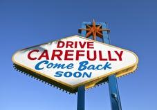 Las- Vegaszeichen-Rückseite Stockfoto