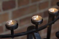 Las velas alinean en iglesia en Perth Australia agradable imágenes de archivo libres de regalías