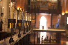 Las velas alinean en iglesia en Perth Australia agradable foto de archivo libre de regalías