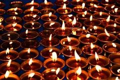 Las velas de la meditación Fotografía de archivo libre de regalías