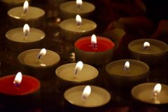 Las velas están quemando Imagen de archivo