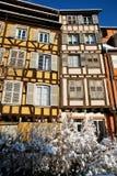 Las ventanas de Estrasburgo Imagen de archivo libre de regalías