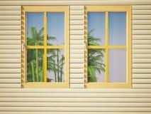 Las ventanas en la casa Foto de archivo