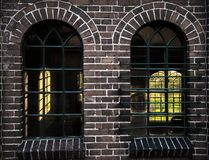 Las ventanas viejas hermosas Foto de archivo