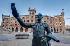 Las Ventas斗牛场在马德里,西班牙 免版税库存照片