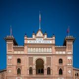 Las Ventas斗牛场室外看法在马德里 免版税库存图片