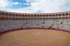 Las Ventas arena before bullfighting show Stock Image