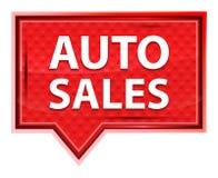 Las ventas autos brumosas subieron botón rosado de la bandera stock de ilustración