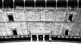 Las Ventas (B&W) arkivbilder