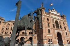 Las Ventas Bullring Plaza de Toros de Las Ventas στην πόλη της Μαδρίτης, Ισπανία Στοκ εικόνα με δικαίωμα ελεύθερης χρήσης