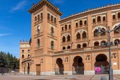 Las Ventas Bullring Plaza de Toros de Las Ventas in città di Madrid, Spagna immagine stock