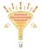 Las ventas concentran, conversión stock de ilustración