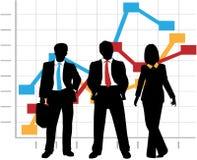 Las ventas del asunto Team la carta del gráfico del crecimiento de la compañía Fotos de archivo libres de regalías