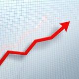 ¡Las ventas están en el ascendente! Fotos de archivo