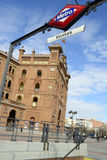 Las Ventas square main door and subway sign, Madrid Royalty Free Stock Photography