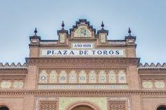 Las Ventas tjurfäktningsarena i Madrid, Spanien Arkivbild