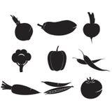 Las verduras fijaron iconos Imágenes de archivo libres de regalías