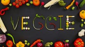 Las verduras hicieron el Veggie de la palabra Foto de archivo