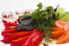 Las verduras sirven para un banquete Imagen de archivo