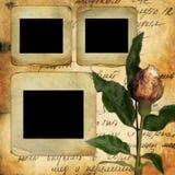 Las viejas diapositivas para la foto con viejo se levantaron Imagenes de archivo