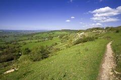 Las visiónes desde el país de la colina de Crickley estacionan cerca de Gloucester Foto de archivo