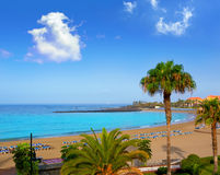 Las vistas beach Arona in costa Adeje Tenerife Royalty Free Stock Photos
