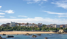 Las vistas de la ciudad y de Sardinero de Santander varan, Cantabria, España. Foto de archivo libre de regalías