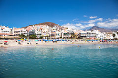 Las Vistas s beach,Tenerife,  Spain. Royalty Free Stock Photography