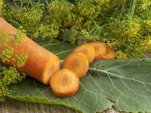 Las zanahorias del corte Fotos de archivo libres de regalías