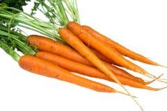 Las zanahorias frescas cierran opiniones imagen de archivo libre de regalías