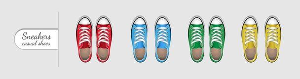 Las zapatillas de deporte son calzados informales libre illustration