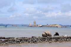 Las zonas costeras de Fujian, China Foto de archivo libre de regalías