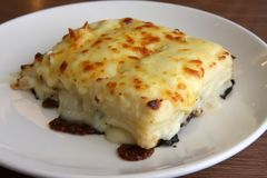 lasagna πιάτων στοκ εικόνες
