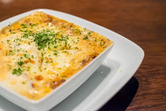 Lasagna στο πιάτο Στοκ φωτογραφία με δικαίωμα ελεύθερης χρήσης
